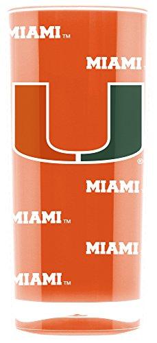 NCAA Miami Hurricanes 16oz Insulated Acrylic Square Tumbler