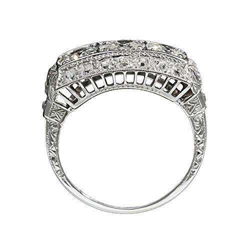 Little Finger Elegant Faux Topaz Inlaid Beautiful and Lovely Jewelry Women...