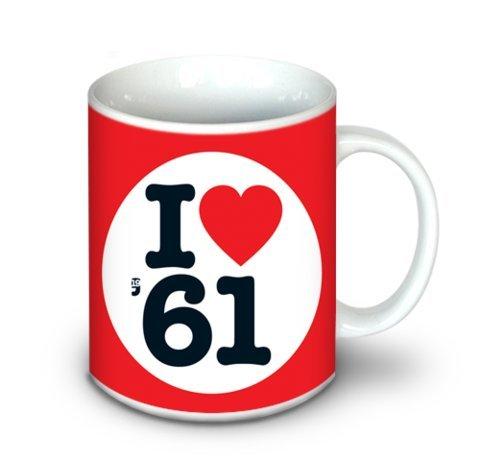 1961年誕生日や記念日ギフト – I Love 1961マグ – セラミック – 10oz B0757SWMLJ
