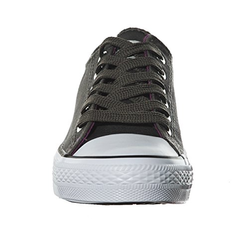 Canvas STYLE Women's Purple Best Seller Classic Grey Skate Sneaker NEW Fta6WgnwqF