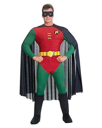 Batmans Robin Costume Superhero Sidekick Dynamic Duo Movie Costumes Sizes: One Size