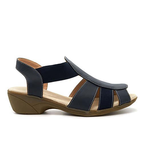 London Footwear ,  Damen Sling Backs Blau