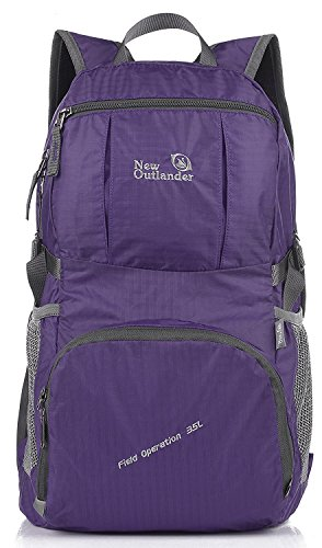 Outlander Packable Lightweight Travel Hiking Backpack Daypack for $<!--$19.52-->