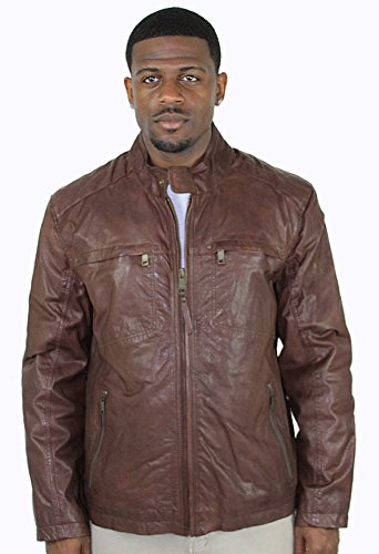 [Andrew Marc Vine Men's Leather Motorcycle Jacket Brown Size XL] (Snow Motorcycle Jackets)