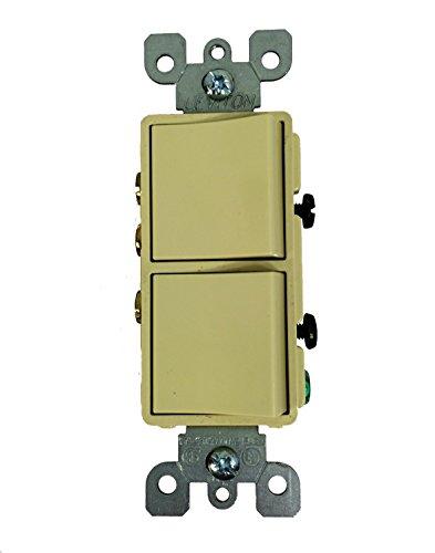 Leviton Decora 15 Amp 3-Way AC Combination Switch - Ivory from Leviton