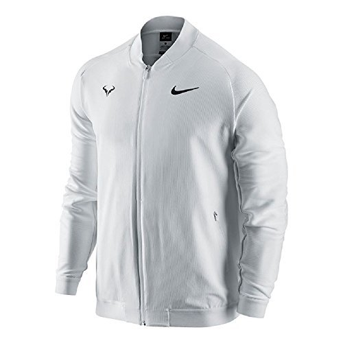 Nike Mens Premier Rafael Nadal Woven Tennis Jacket White 728986-101 (X-Large) by NIKE