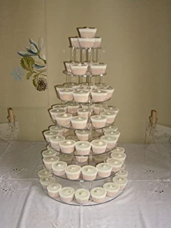 7 Tier 5mm Thick Acrylic Wedding Party Favour Cupcake Cake Stand By ClassikoolR