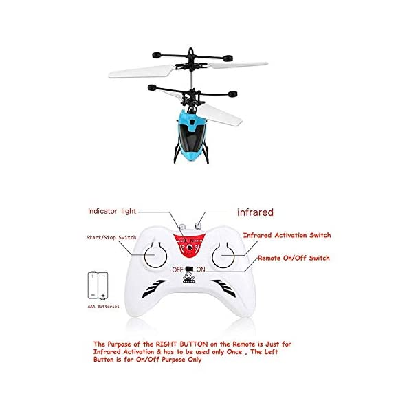 BM Infrared Sensor Aircraft   Hand Induction Control   USB Charger   Type 2-in-1 Flying Indoor Helicopter with Remote for Kids   Multicolour