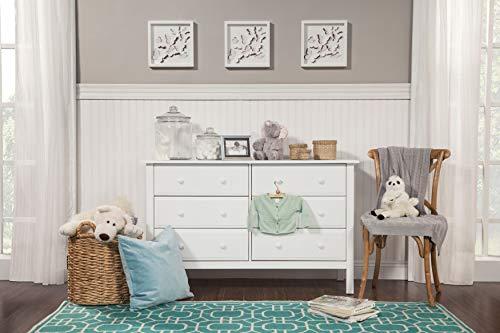 Davinci Jayden 6 Drawer Double Dresser, White (Pure White Double Dresser)