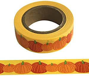Eyelet Outlet Washi Tape, 15mm by 10m, Pumpkin