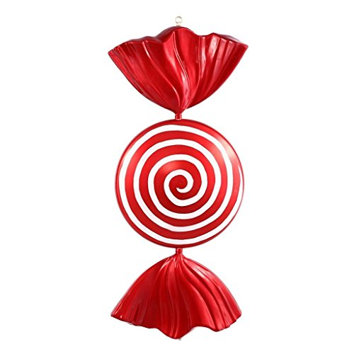 Vickerman M110924 Peppermint Spiral Shiny Candy Ornament with