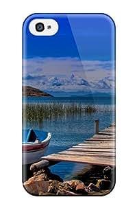 Hot Tpu Cover Case For Iphone/ 4/4s Case Cover Skin - Titicaca Lake 4527238K31519391