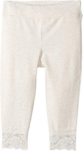 Splendid Littles Baby Girls Seasonal Basic Legging Lace Bottom, Light Grey, 6-12 MO (Splendid Leggings Littles)