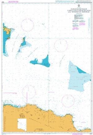 Ba Diagramm 3908  Passagen zwischen Turks- und Caicosinseln und Dominikanische Republik von UNITED KINGDOM Hydrographic Büro