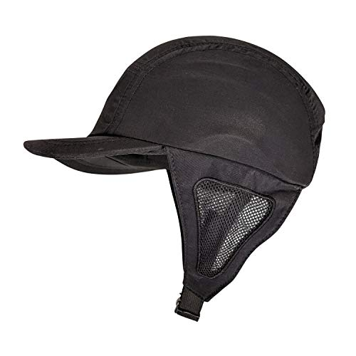 Hella Slingshots Black Surf Hat with Removable Plastic Shell