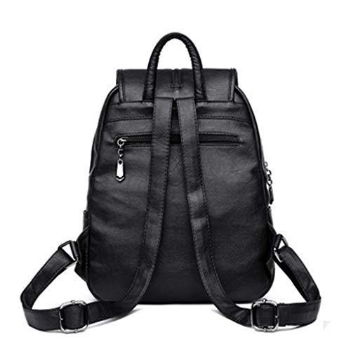 Viaggio Di Studente Backpackss Coreana Pelle Moda Vento In Versione Zaino Marea Università Borsa Pecora Della Red Da Nuova OqxB8qwI