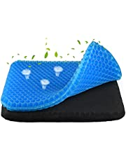 Gel Seat Cushion, Breathable Double-Layer Seat Cushion, Portable Cooling Gel Seat Cushion, Relieve Stress and Pain, Suitable for Office , Chair, Wheelchair and Car