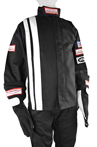 - Racerdirect.net SFI 3.2A/1, Single Layer FR Cotton Jacket JR Size 6/8 Black