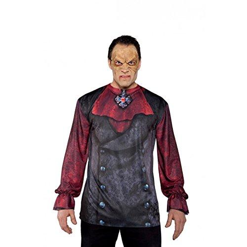 Creepy Scarecrow Mask (Underwraps Men's Vampire Mask, Tan, One Size)