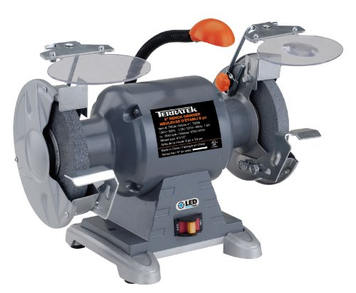 Swell Terratek Tbg6 Heavy Duty 6 Inch Bench Grinder With Light Alphanode Cool Chair Designs And Ideas Alphanodeonline