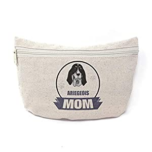 Custom Canvas Makeup Bag Mom Ariegeois Dog School Supplies Pencil Tote Pouch 9x6 Inches Natural Design Only 3