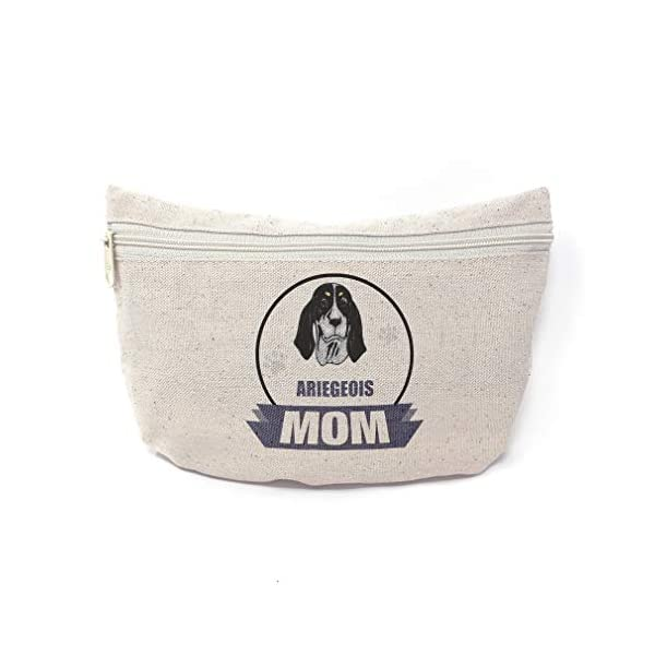 Custom Canvas Makeup Bag Mom Ariegeois Dog School Supplies Pencil Tote Pouch 9x6 Inches Natural Design Only 1
