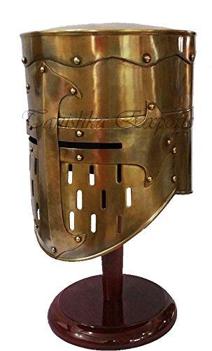 [MEDIEVAL TEMPLAR KNIGHT CRUSADER ARMOUR HELMET - HALLOWEEN COSTUME SPARTAN HELMET] (Spartan Princess Costumes)