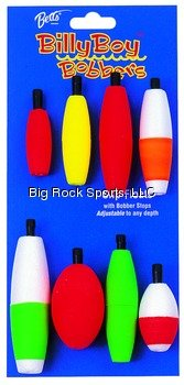 Betts 92 Billy Boy Bobbers Balsi Foam Peg Float Assortment, Pack of 8, Assorted Finishes