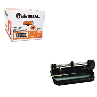 KITSWI74350UNV21200 - Value Kit - Swingline 32-Sheet Lever Handle Two- to Seven-Hole Punch (SWI74350) and Universal Copy Paper (UNV21200)