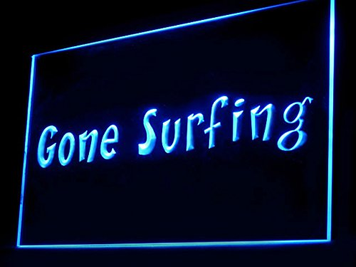 (C B Signs Surf Shop Man Cave Gone Surfing LED Sign Neon Light Sign Display)