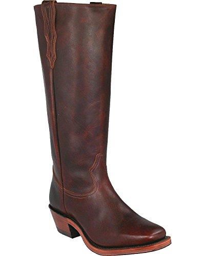 Cowboy Boot Square Toe Brown 10.5 D(M) US (Boulet Mens Medium Square)
