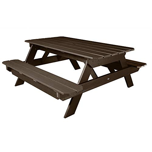 highwood AD-TBL-HI02-ACE Hometown Picnic Table, Weathered Acorn