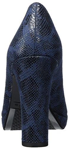 Tamaris 22435, Escarpins Femme, Black Suede Bleu (Navy Snake)