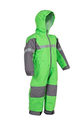 OAKI Rain Suit Kids - Toddler Snowsuit - One Piece Rain Jacket/Pant for Girls & Boys, Classic Green, 4 (Kids Snowsuit One Piece 4t)