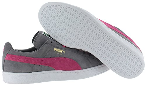 Puma Suede Classic, Women's Low-Top Sneakers Steel Gray/Flo Pink/White