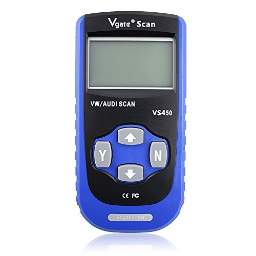 Vgate VS450 VAG CAN OBDII Diagnostic Scanner Code Reader Reset oil Service Light Engine ABS Air Bag Scan Tool Work with VW and AUDI (Services Engine)