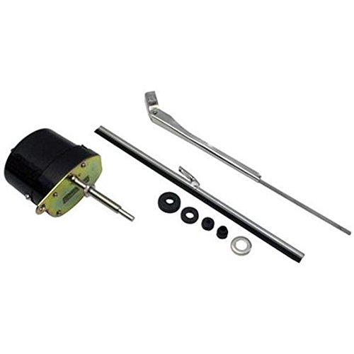 Black 12 Volt Electric Windshield Wiper Motor Kit