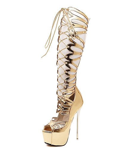 GGX/ Zapatos de mujer-Tacón Stiletto-Tacones-Tacones-Casual-PU-Oro , golden-us8.5 / eu39 / uk6.5 / cn40 , golden-us8.5 / eu39 / uk6.5 / cn40 golden-us8 / eu39 / uk6 / cn39