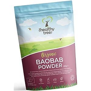 Polvere di Baobab Bio di TheHealthyTree Company per Frullati e Succhi Vegan - Alto Contenuto di Vitamina C, Fibre e… 2 spesavip