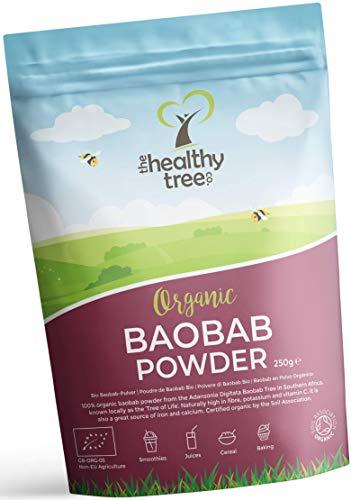 Polvere di Baobab Bio di TheHealthyTree Company per Frullati e Succhi Vegan - Alto Contenuto di Vitamina C, Fibre e… 1 spesavip