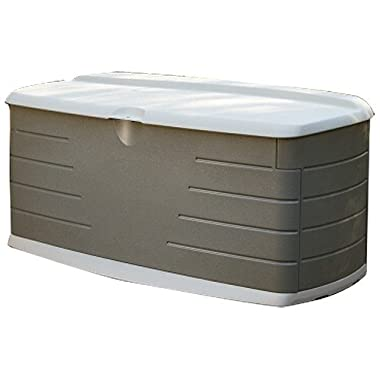 Rubbermaid Deck Box with Seat, Large, 90 Gal., 12 cu. ft., Sandstone (5F22)