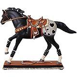Enesco Trail of Painted Ponies Rope My Heart Stone Resin Figurine, Black