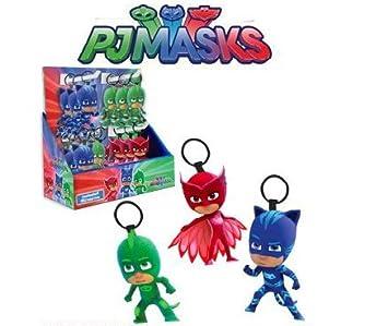 pj masks pj máscaras super pijamas idea regalo de cumpleaños expositor 48 led llavero