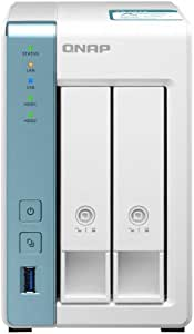 QNAP TS-231K 2 Bay Desktop NAS Enclosure - 1GB RAM, Annapurna Labs 4-core, 1.7GHz Processor - for Reliable high Performance Home and Personal Cloud Storage