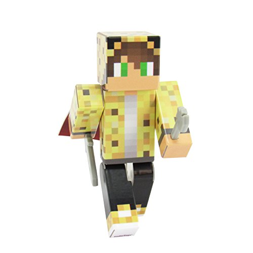 EnderToys Ocelot Boy Action Figure Toy, 4 Inch Custom Series Figurines]()
