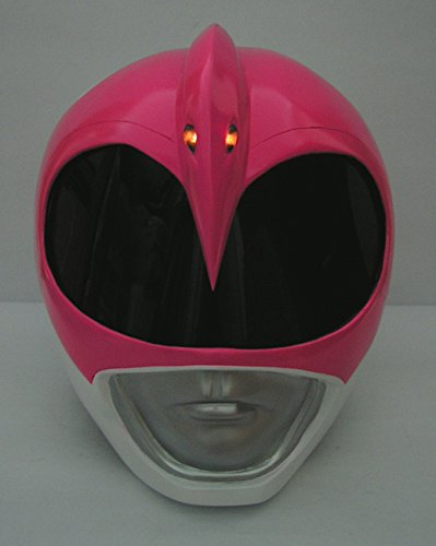 Power Rangers Lamp (Lighted up!! Costume Helmet 1/1 Scale Life-Size ! Mighty Morphin Power Rangers PINK RANGER Cosplay Mask Props Collectible)