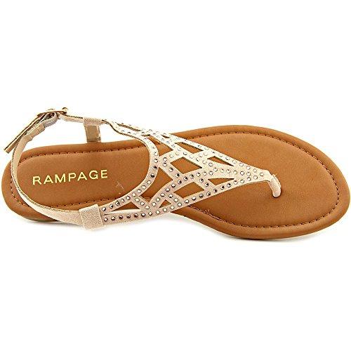 Rampage Pattie–Sandalias Nude Micro Suede
