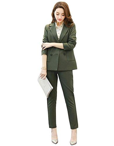 結晶レギュラー反抗DRASAWEE(JP)レディース パンツスーツ スーツセット リクルートスーツ 事務服 通勤 2点セットアップ 無地 フォーマル エレガント 七五三 卒業式 パーティー