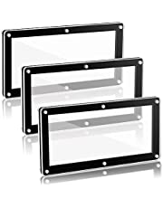 Wesiti 3 Pieces Currency Frame Display Acrylic Dollar Bill Frame Black Currency Frame Holder for Regular Bill Currency Storage Paper Currency Collection, 7.1 x 3.5 Inch