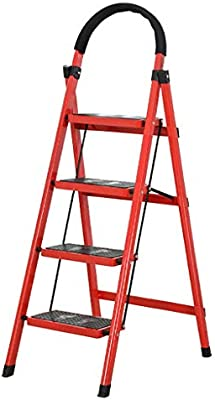 Escaleras plegables peldaños, Escalera plegable de acero portátil con escalera de 3/4, escalera de tijera, escalera telescópica multiusos for la oficina de loft en el hogar, antideslizante, carga máxi: Amazon.es: Hogar